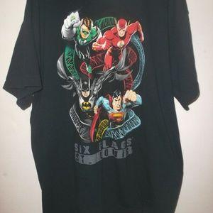 Justice League Six Flags St. Louis T Shirt Size XL